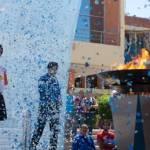 El recorrido de la antorcha fue iniciado por el seleccionado nacional de atletismo para los juegos, Jorge Rouco Cervantes, quien tras recibirla de manos de la Presidenta Municipal Esthela Ponce Beltrán, transmitió el mensaje de paz simbolizado en la misma flama que arderá en Guadalajara a partir del 14 de octubre.