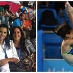 El gobernador se tomó una foto con Paola Espinoza, clavadista paceña que siempre fue favorita para ganar medallas para México en todas las categorías de 10 y 5 metros.