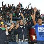 """""""Declaración de liberación. Levanten sus cabezas. Son libios libres"""", declaró el vicepresidente del CNT y portavoz de las nuevas autoridades del país, Abdel Hafez Ghoga, durante una ceremonia celebrada tres días después de la caída de Sirte, último bastión gadafista, y de la muerte del ex dirigente libio."""