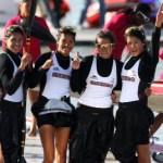 La atleta originaria de Bahía Tortugas, recibió el reconocimiento junto a sus compañeras del equipo k-4 que lograra la medalla de plata en los XVI Juegos Panamericanos de Guadalajara, quedando a unas milésimas del equipo canadiense.