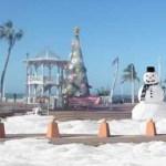 La renta de trineos y tablas de snowboarding se llevará a cabo en la misma plaza del kiosco, para que mientras escucha la Banda Sinaloense se lance de la rampa de nieve más alta que se levantará en el centro de la ciudad, la de los Santos Inocentes.