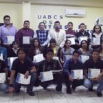 La UABCS entregó reconocimientos a los alumnos de las carreras de Ingeniero en Tecnología Computacional y de Licenciado en Computación que obtuvieron los mejores promedios en el semestre 2011-I.