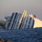 Imagen del naufragio del crucero 'Costa Concordia' en Italia