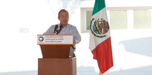 Inaugura Calderón hospital del ISSSTE