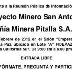 A través de redes sociales, correos electrónicos y comunicación directa, la sociedad sudcaliforniana está convocando a acudir a manifestar con su presencia el rechazo a las intenciones del proyecto miembro de establecerse en el municipio de La Paz.