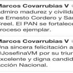 """El gobernador apapachó a la candidata: """"Una sincera felicitación a @JosefinaVM por su triunfo. Excelente y digna candidata de Acción Nacional"""""""