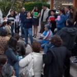 Ayer por la mañana, la totalidad del sindicato acudió a las puertas del Palacio de Gobierno, donde, con pancartas y en las escalinatas del recinto, esperaban la solución a su conflicto laboral.