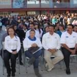 El Gobierno del Estado aplica más de 60 millones de pesos en obras de infraestructura educativa en el municipio de La Paz, dijo el Gobernador Marcos Covarrubias Villaseñor, al hacer entrega de aulas en gira de trabajo por esta capital.