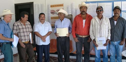 Al fin, recibieron en la  Reforma Agraria a posesionarios de San Jacinto