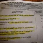 """La directora de la Telesecundaria número 29 ubicada en las inmediaciones de la colonia Lomas del Sol, hizo llegar una copia a los padres de familia donde les solicita el pago de algunos """"trabajos"""" que sus hijos deberán desarrollar en los próximos."""