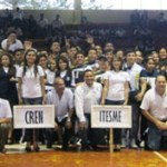 Estudiantes de la UABCS, campus Loreto, durante la inauguración de los primeros Juegos Deportivos de Nivel Medio Superior y Superior del municipio de Loreto.