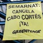 El presidente Felipe Calderón canceló el proyecto turístico en Cabo Cortés, dando así respuesta a la solicitud de la asociación ambientalista Green Peace.