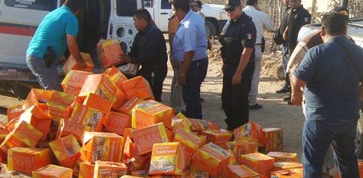 Denuncia el Movimiento Ciudadano hallazgo de camión con «cerros de despensas»