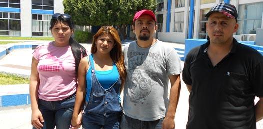 Gabriel Cázares, Brenda Contreras, Jesús Soto Gastélum y María Margarita López, dicen ser vacacionistas sinaloenses que han sido implicados, de manera injusta y falsa, en el atraco a una joyería en esta ciudad.