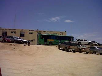 """Al iniciar las investigaciones pertinentes, la Policía Estatal logró la detención de un camión de color verde, con una leyenda a los costados que dice """"Cabo Bus"""", y de la razón social Costa Baja, S.A. de C.V., en el que venían a bordo 8 personas, todas del sexo masculino, siendo estos un adulto y siete menores de edad."""