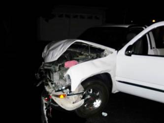 Tras chocar, abandonó su auto dejando droga a bordo