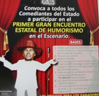 Convocan a los comediantes al primer Encuentro Estatal del Humorismo