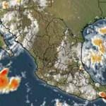 En su reporte de lluvias para las próximas horas, el SMN indicó que se prevé precipitaciones ligeras en Baja California, Baja California Sur, Chihuahua, Coahuila y Nuevo León.