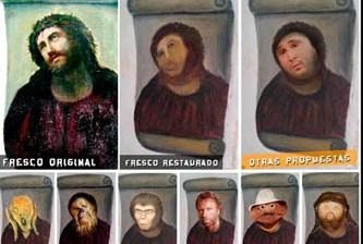 El viacrucis de una improvisada restauradora de arte