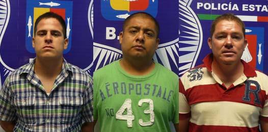 Carlos Alberto Muñoz De La Toba, Julio Zeferino Santos Miranda y Héctor Manuel Castro Castro.