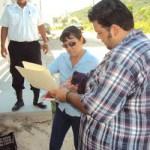 Roberto Cota Briceño, inspector laboral de la Secretaría del Trabajo acudió para checar las condiciones de trabajo, seguridad e higiene, así como capacitación y adiestramiento, para que vaya de acuerdo a los derechos que deben tener los empleados.