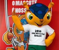 Un armadillo, la mascota de Brasil 2014