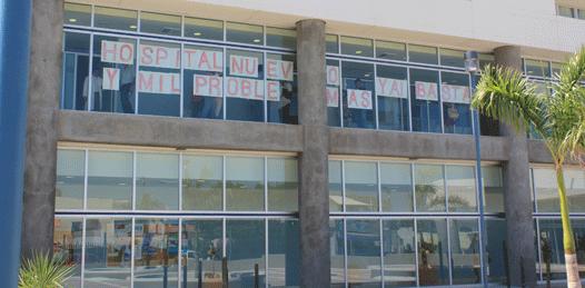 Protestan por burocratismo y mala atención en el flamante hospital del ISSSTE