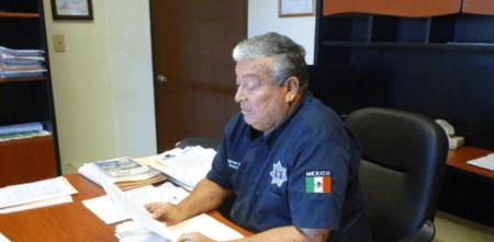 Ángel César Amador Soto, director de la corporación policiaca municipal.