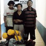 Perla del Rocío Alvarado, José Luis Rosas y Pablo López.