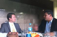 Alcalde con diputados federales