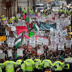 Protestan frente al Parlamento de Westminster