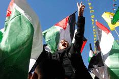 Palestinos invaden las calles
