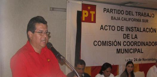 """La izquierda en BCS parte """"prácticamente de cero"""" acepta el PT"""