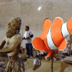 Elaboran carros alegóricos del Carnaval