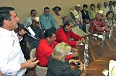 Respalda Barroso a agricultores del VSD ante SAGARPA