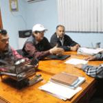 El Tesorero Municipal se reunió con el dirigente Municipal, Armando Hernández y el Secretario de Conflictos del Comité Estatal, Luciano de la Peña