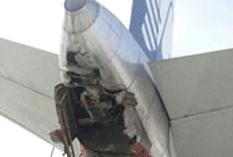 Accidenta avión de Aeroméxico
