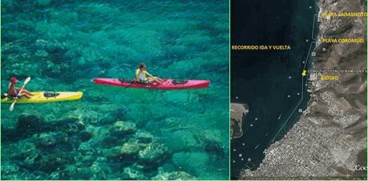 En kayak por el libre acceso a playas
