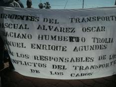 Manifestación contra acaparamiento de placas