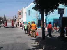 Simulacro y plática sobre incendios en escuelas