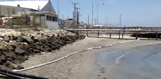 Viene de altamar la mancha de aceite en aguas de Puerto San Carlos