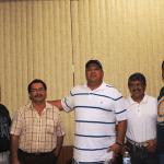 """Presentes en el encuentro estuvieron el coordinador de Box, Feliciano """"Chano"""" Aguilar, Andrés """"El Cono"""" Real, Edmundo Meza y Loreto Moreno Flores."""