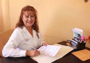Margarita Higuera Altamirano encargada de la junta municipal de reclutamiento.