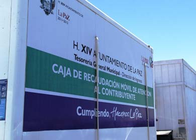 Mantiene Ayuntamiento de La Paz servicio de Cajas Móviles