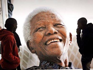 Mandela, en su lecho de muerte