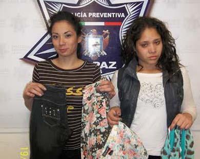 Dos damitas detenidas por robar ropa