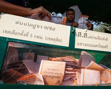 En calma concluyen las elecciones en Tailandia