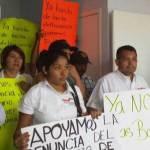 se manifestaron ante la Sub Procuraduría General de Justicia