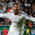 Sergio Ramos celebra el tanto del empate.