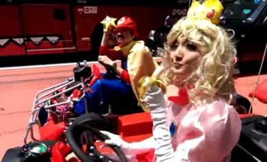 Recrean videojuego de 'Mario Kart'